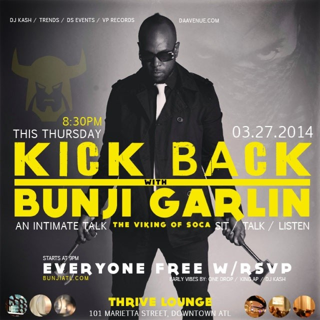 Kickback with Bunji Garlin Flyer