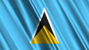 stock-footage-saint-lucia-flag-loop