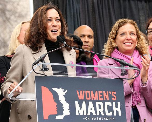 Jamaican American Senator Kamala Harris at the Women March Photo by :Morigi/WireImage)