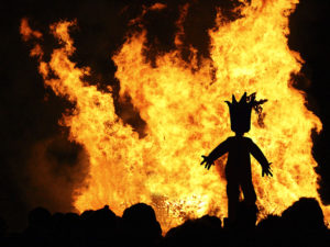 Burning of the Momo Curacao Carnival 02.17