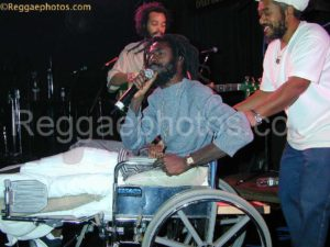 Buju Banton on Wheelchair and 2Bkaribbean